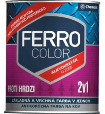 """Краска """"Chemolak Ferro Color"""" полуглянсовая темно-коричневая 2,5 л."""