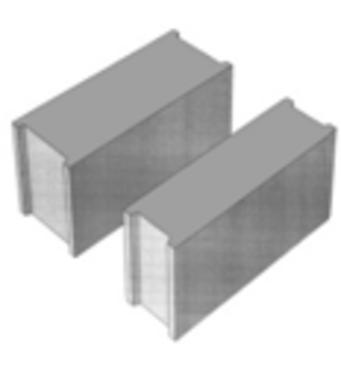 Стеновой бетонный блок ПБ-ПР 15