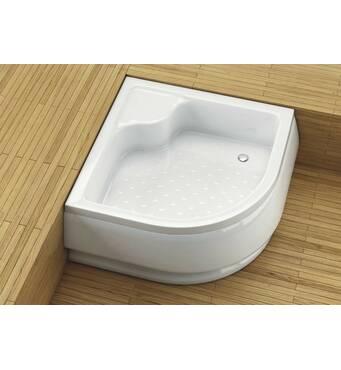 Полукруглый душевой поддон Aquaform Standard глубокий с сидением 80x80