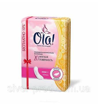 Прокладки Ola! Classic Normal 4краплі без крыльец 20шт (1/18)
