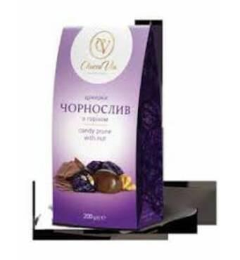 """Цукерки 200г """"Чорнослив"""" """"ChoccoVia"""" (коробка)"""