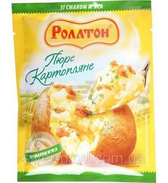 """Пюре картофельное пакет 40г Мясо """"Роллтон"""" (1/24)"""