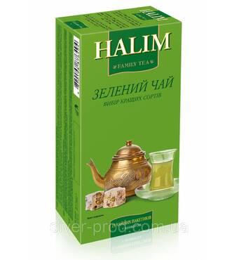 """Чай """"Halim"""" 25п*1,5г Зеленый КОНВЕРТ (1/12)"""