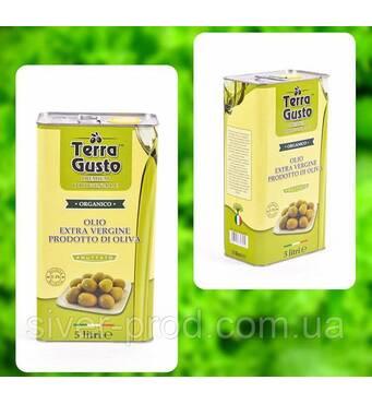 Олія оливкова Olio Extra Virgin 5л Terra Gusto (зелена) ж/б (1/1)