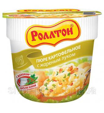 """Пюре картофельное стакан 40г Жареный лук """"Роллтон"""" (1/24)"""