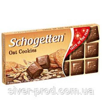 Шоколад молочний SCHOGETTEN OAT COOKIES з вівсяним печивом 100г (1/15)