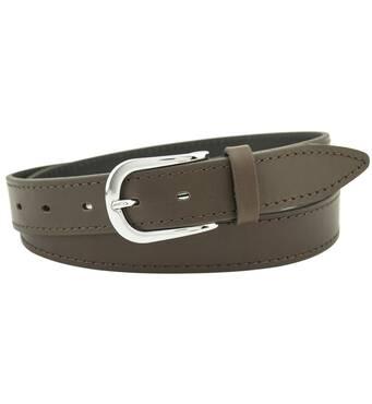Мужской кожаный ремень BZ 4 см для джинсов темно-синий 110-135 см  (BZ1723)