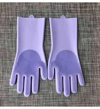 Силіконові рукавички для миття і чищення