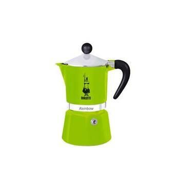Гейзерная кофеварка Bialetti Rainbow Green (6 чашек - 300 мл)
