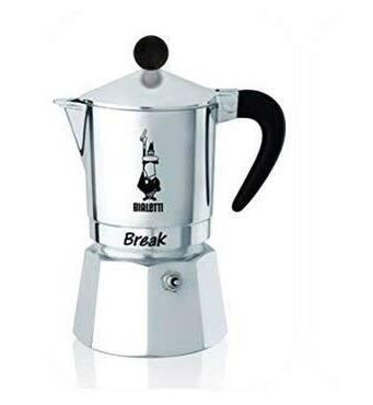 Гейзерна кавоварка Bialetti Break Black (6 чашок - 300 мл)