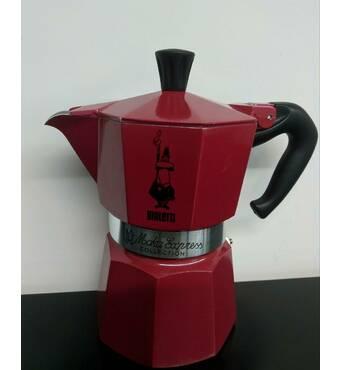 Гейзерная кофеварка Bialetti Moka Collection Red (3 чашки - 170 мл)