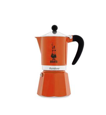 Гейзерная кофеварка Bialetti Rainbow Оранжевая (6 чашек - 300 мл)