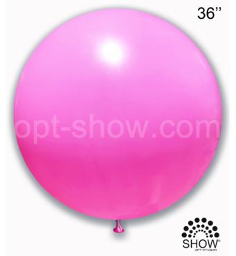 """Шар гигант розовый 36"""" (90 см) Арт Шоу"""