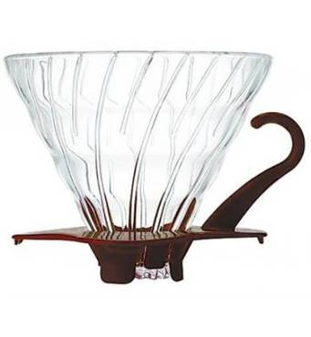 Фильтр-кофеварка Hario V60 01 Glass Dripper (300 мл) Brown