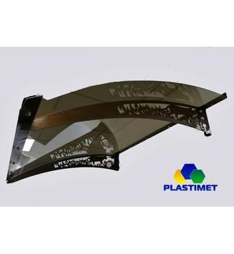 Готовий збірний дашок 1,5х1м Dash'Ok монолітний полікарбонат 4мм