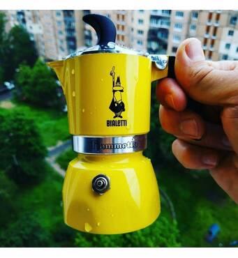 Гейзерна кавоварка Bialetti Fiammetta Yellow (3 чашки - 170 мл)