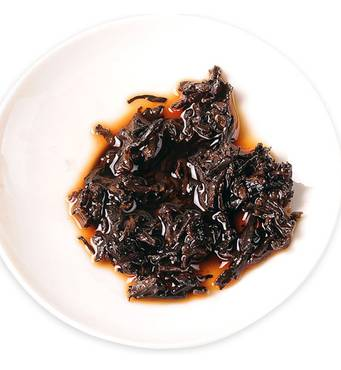 Чай Шу Пуэр Мэнхай Бурштинова плитка, 2014 року, 60 г