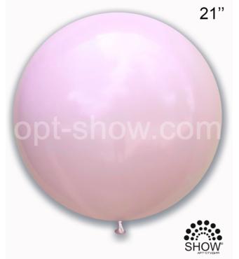"Шар гигант Розовый Макарун 21"" (52,5 см) Арт Шоу"