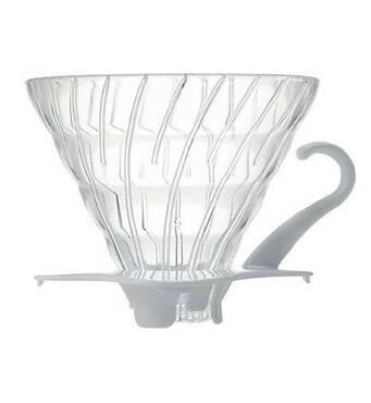 Фильтр-кофеварка Hario V60 01 Glass Dripper (300 мл) White