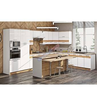 Кухня крашенный высокий глянец с фото рисунком