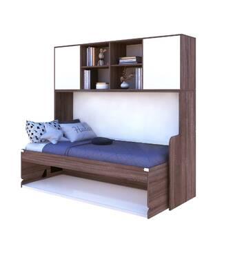 Стол кровать з антресолями SINLINE 90 х200 см Дуб Cонома трюфель