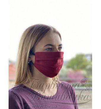 Маска для лица защитная многократная Красочная Вышиванка, 100% лен, 22х14х8 см МА002лР2201_016