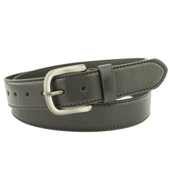 Мужской кожаный ремень Diplom 4 см для джинсов черный 110-135 см  (DP1731)