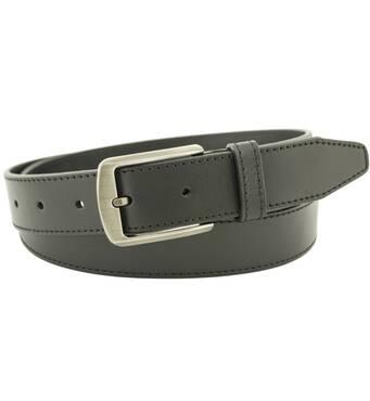 Мужской кожаный ремень Mr.Cayman 4 см для брюк черный 110-135 см  (MC1735)