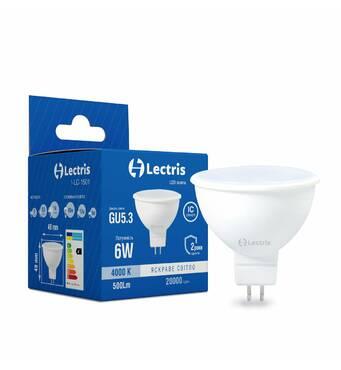 Лампа LED Lectris  MR16 6W 4000K 220V GU5.3