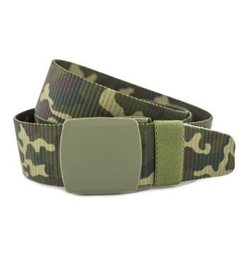 Мужской тактический ремень камуфляж NA 4 см для джинсов зеленый+коричневый 110-125 см  (NA1753)