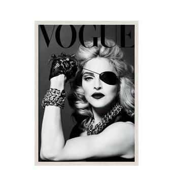 """Постер """"Madonna"""" із склом антивідблиску 297x420  мм у білій рамці"""