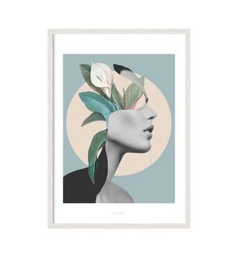 """Постер """"GIRL ART#12 """" із склом антивідблиску  297x420 мм у білій рамці"""
