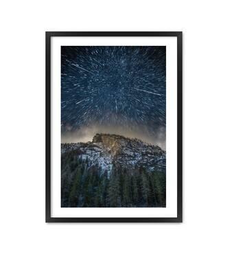 """Постер """"Зоряна ніч"""" без скла 420x594 мм  у чорній рамці"""