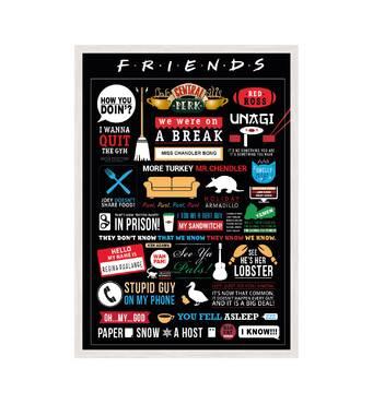 """Постер """"FRIENDS"""" із склом антивідблиску 420x594  мм у білій рамці"""