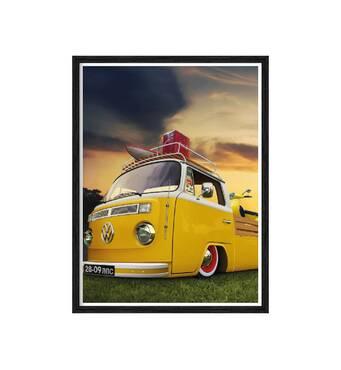 """Постер """"Volkswagen"""" із склом антивідблиску 596x840  мм в чорній рамці"""