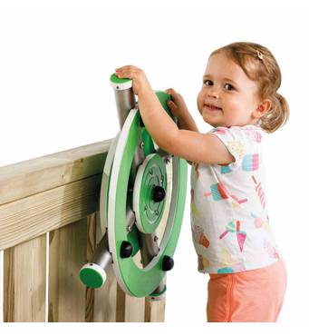 Штурвал X з нержавіючої сталі KBT для дитячого майданчика