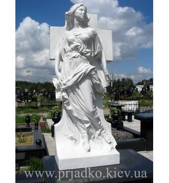 Ритуальна скульптура з білого мармуру, дівчина