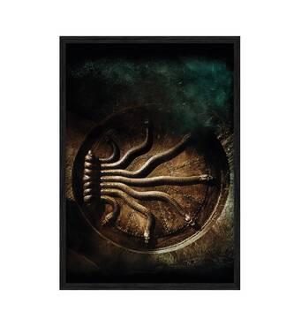 """Постер """"Гаррі Поттера і таємна кімната"""".  із склом антивідблиску 42 x 59.4 см в чорній рамці"""