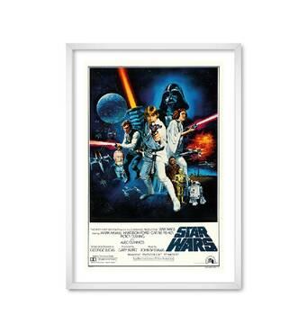 """Постер """"Star Wars poster"""" із склом антивідблиску  297x420 мм у білій рамці"""