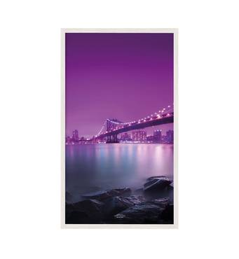 """Постер """"Місто"""" із склом антивідблиску 400x800  см у білій рамці"""