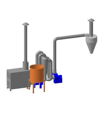 САД-0.4-0.8 для соломы Производительность 300 кг / ч