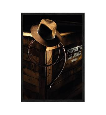 """Постер """"Індіана Джонс"""" без скла 297x420 мм  у чорній рамці"""