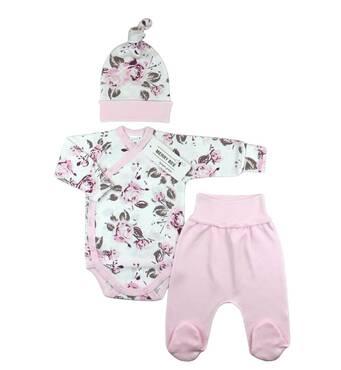 Комплект боди, ползунки и шапочка ТМ Merry Bee Розовый