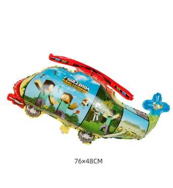 Фольгированный куля Вертоліт Майнкрафт 76х48 см (Китай) в упаковці