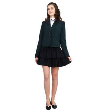 """Пиджак школьный для девочки м-515  рост  122 134 146 158 164 170  зеленый тм """"Попелюшка"""" 158"""