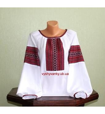 рубашка женская с тканым орнаментом