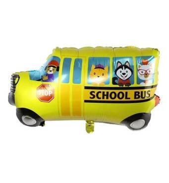 Фольгированный куля Шкільний автобус 75х52 см (Китай) в упаковці