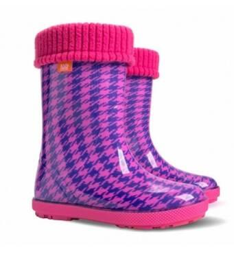 Дитячі гумові чоботи Demar 0048 HF рожевого кольору