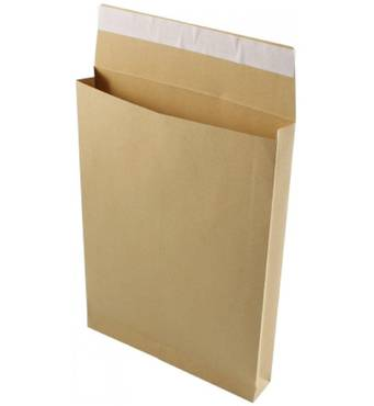 Поштовий конверт з розширенням В4, 250х353x40 мм, 125 гр/кв.м, Польща