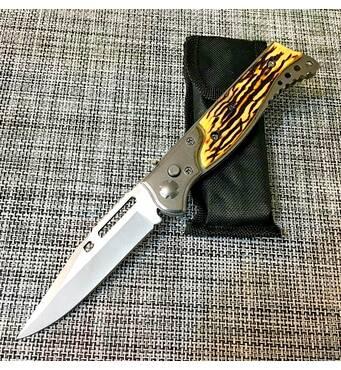 Нож выкидной с костяной ручкой 21см / 233А
